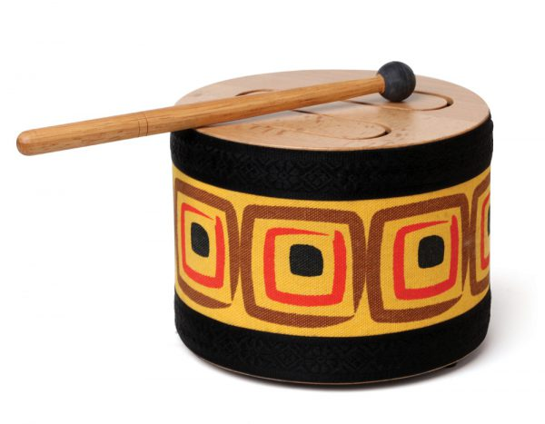 wood tone-slit drum