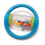 blue rolling shapes bead rattle