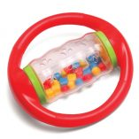 red rolling shapes bead rattle