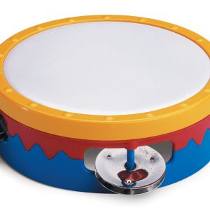 "6"" Multi-Colored Tambourine"