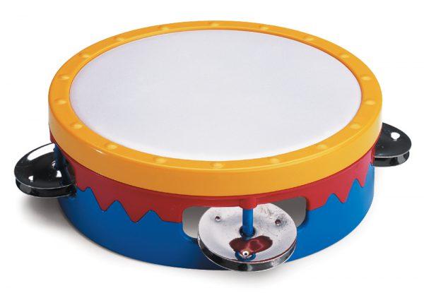 """6"""" Multi-Colored Tambourine"""